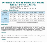 High content of powdered sodium dodecyl benzene sulfonate